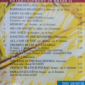 Brassband - Entertainment in Brass II (Back cover)