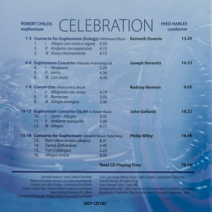 Brassband - Celebration (Back cover)