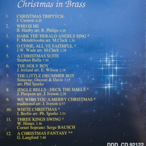 Brassband - Christmas in Brass (Back cover)